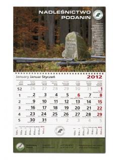 Kalendarz jednodzielny A3 z indywidualną główką