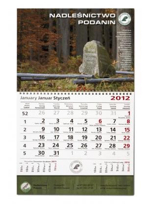 Kalendarz jednodzielny A3