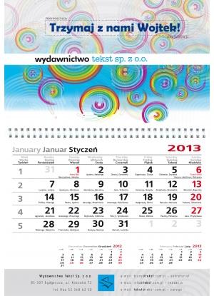 Kalendarz personalizowany jednodzielny A3
