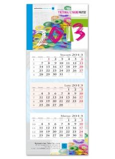 Kalendarz personalizowany trójdzielny ( 320 x 790 mm ) indywidualny