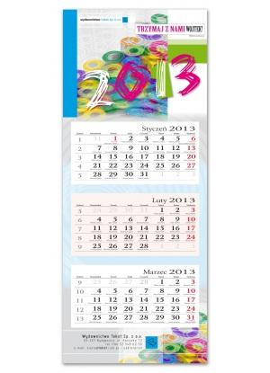 Kalendarz personalizowany trójdzielny ( 310 x 780 mm )