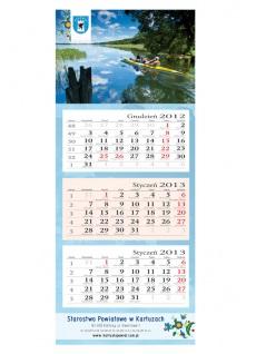Kalendarz trójdzielny ( 310 x 780 mm )